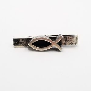 Other - Vintage Sterling Ithycus Fish Tie Clip